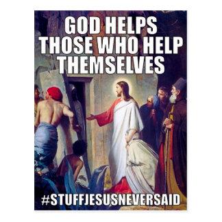 O deus ajuda o cartão (SJNS)