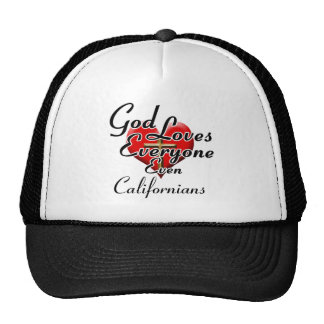 O deus ama californianos boné