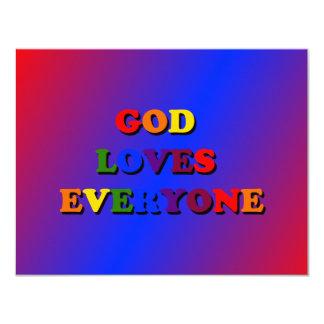 O deus ama todos convite