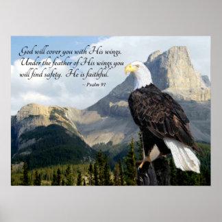 O deus cobri-lo-á com seu salmo 91 das asas