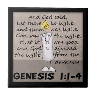 O deus criou o caráter do Luz-Génese-Castiçal