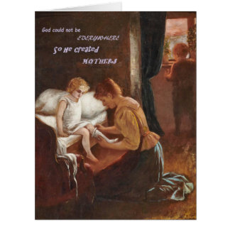 O deus criou o cartão sentimental do dia das mães