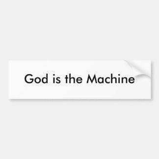 O deus é a máquina adesivos