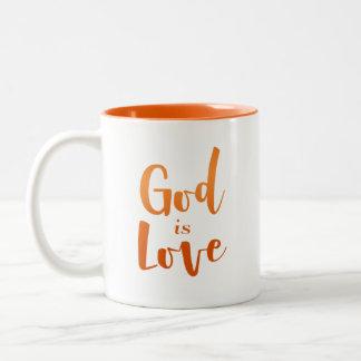 O deus é amor - espiritual e religioso - caneca