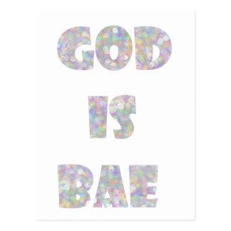 o deus é bae cartão postal