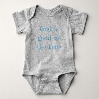 O deus é boa camisa do bebê