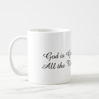 O deus é bom - chinês inglês/tradicional caneca de café