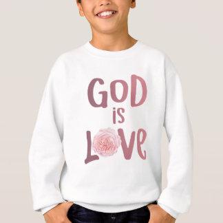 O deus é camisa espiritual e religiosa do amor -