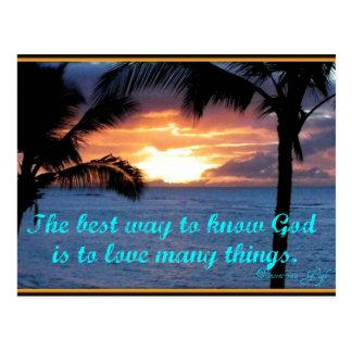 O deus é cartão do amor