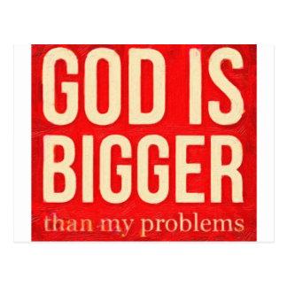 o deus é mais grande do que meus problemas 2 cartão postal