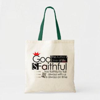 O deus é sacola fiel bolsas para compras