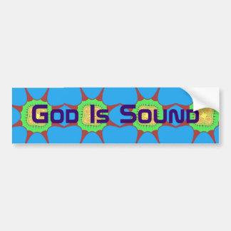 O deus é som adesivos