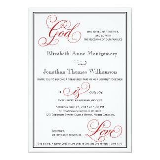 O deus elegante é convite cristão do casamento do