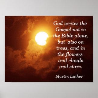 O deus escreve o evangelho - impressão da arte