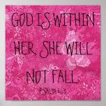 O deus está dentro de seu 46:5 do salmo do verso d poster