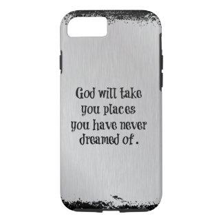 O deus inspirado tomar-lhe-á citações dos lugares capa iPhone 7