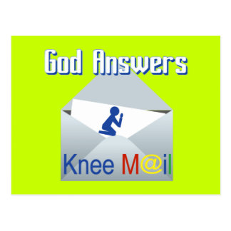 O deus responde ao cartão do presente do correio