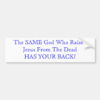O deus tem sua parte traseira adesivo para carro