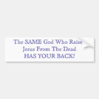 O deus tem sua parte traseira adesivos