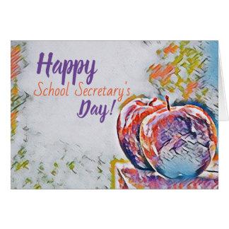 O Dia Cartão da escola do secretário feliz