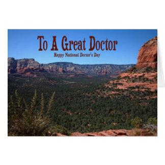 O Dia Cartão do doutor nacional