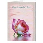 O dia da avó feliz! cartão