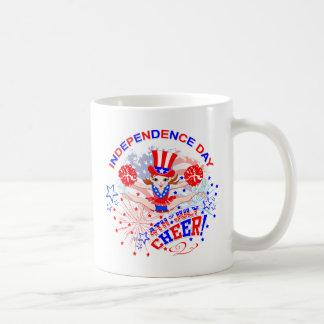 O Dia da Independência do cheerleader Caneca De Café