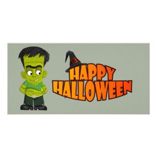O Dia das Bruxas animado Frankenstein Cartão Com Foto