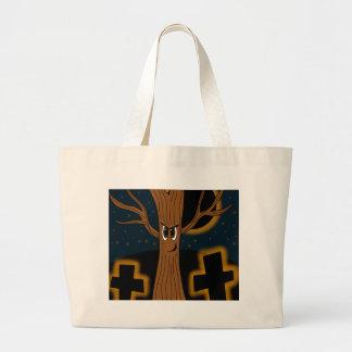 O Dia das Bruxas - árvore má Bolsa Tote Grande