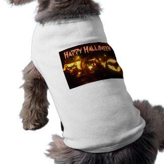O Dia das Bruxas Camisa Sem Mangas Para Cachorro