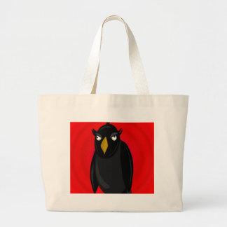 O Dia das Bruxas - corvo preto velho Bolsa Tote Grande