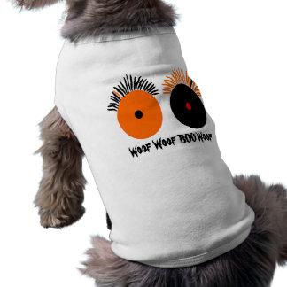 O Dia das Bruxas engraçado Eyes o t-shirt do anima Camisa Para Cães