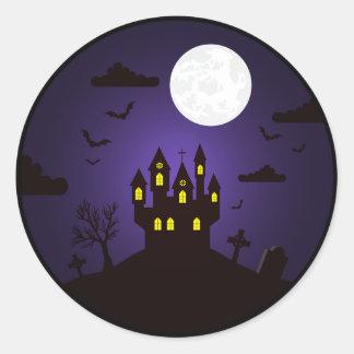 O Dia das Bruxas - etiqueta do castelo de Dracula