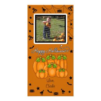 O Dia das Bruxas feliz (adicione seus foto e texto Cartão Com Foto