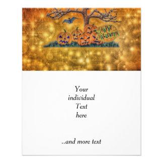 o Dia das Bruxas feliz árvore Panfleto Personalizados