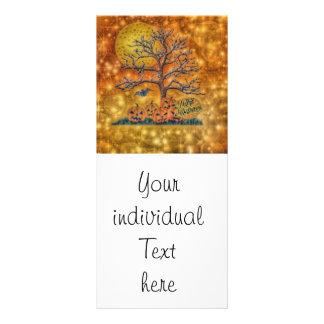 o Dia das Bruxas feliz, árvore 10.16 X 22.86cm Panfleto
