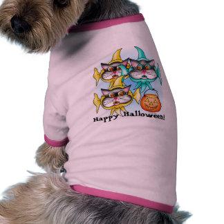 O Dia das Bruxas feliz! Roupas Pet
