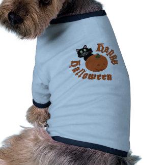 O Dia das Bruxas feliz Camisa Ringer Para Cachorro