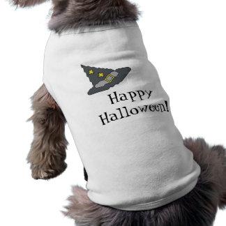 O Dia das Bruxas feliz! Camiseta de cão do chapéu  Roupa Para Pet