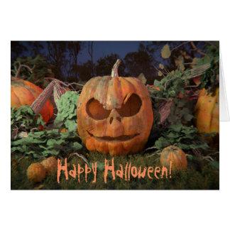 O Dia das Bruxas feliz!  Cartão