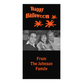 O Dia das Bruxas feliz Cartão Com Foto