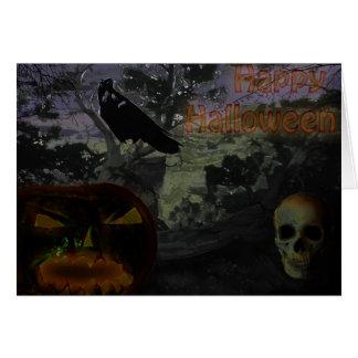 O Dia das Bruxas feliz Cartão Comemorativo
