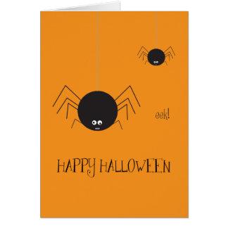 O Dia das Bruxas feliz! Cartão de nota