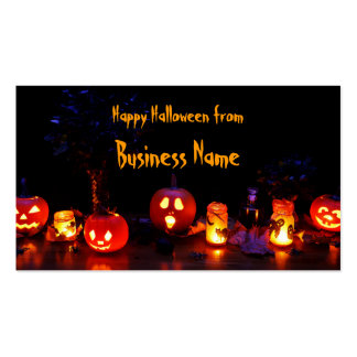 O Dia das Bruxas feliz Cartão De Visita