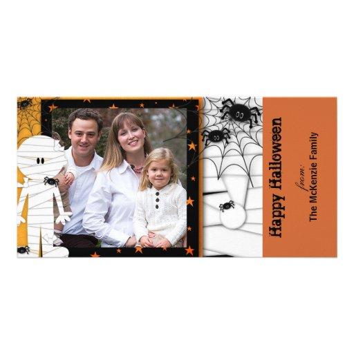 O Dia das Bruxas feliz Cartão Com Foto Personalizado