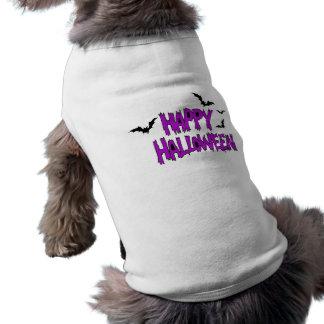 O Dia das Bruxas feliz com roupa do animal de esti Camisa Sem Mangas Para Cachorro