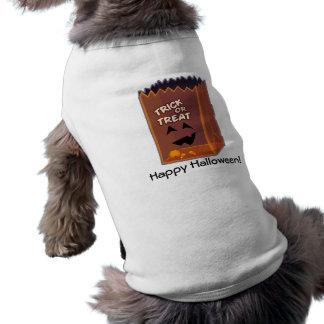 O Dia das Bruxas feliz! - Doçura ou travessura Camisetas Para Caes