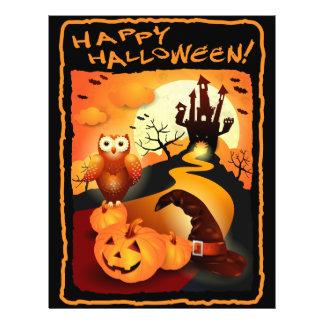 O Dia das Bruxas feliz! Panfleto Coloridos