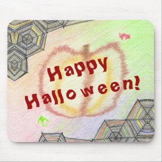 O Dia das Bruxas feliz! Mousepad colorido