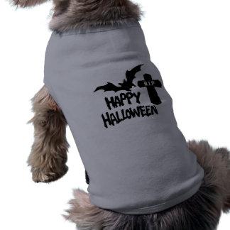 O Dia das Bruxas feliz - t-shirt do cachorrinho Camisa Sem Mangas Para Cachorro
